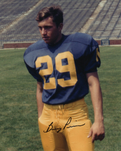 Barry Pierson Michigan Wolverines 8-1 8x10 Autographed Photo - Certified Authentic
