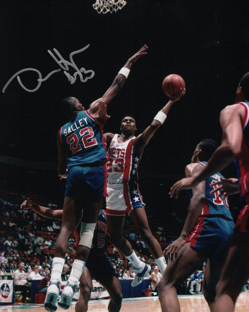 Dennis Hopson New Jersey Nets 8-2 8x10 Autographed Photo - Certified Authentic