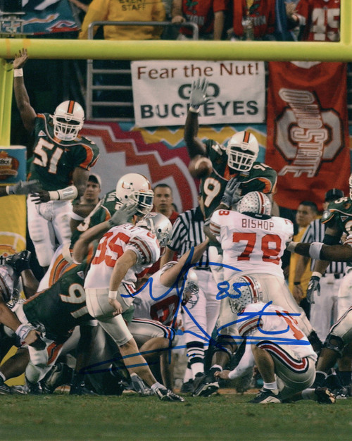 Mike Nugent Ohio State Buckeyes 8-6 8x10 Autographed Photo - Certified Authentic