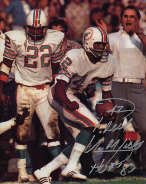 Paul Warfield Miami Dolphins 8-2 8x10 Autographed Photo - Certified Authentic