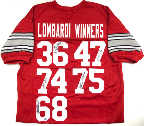 Ohio State Buckeyes Lombardi Trophy Winners Autographed Jersey - Certified Authentic