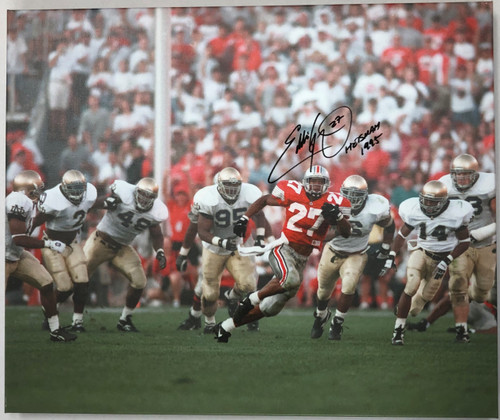 Eddie George Ohio State Buckeyes 20x24 Autographed Canvas - Certified Authentic