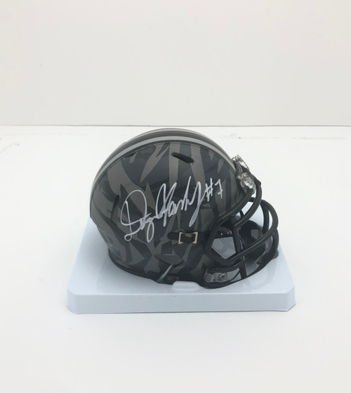 Dwayne Haskins Ohio State Buckeyes Autographed Camo Mini Helmet - Certified Authentic
