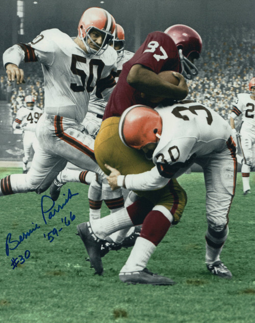 Bernie Parrish Browns 8-1 8x10 Autographed Photo - Certified Authentic
