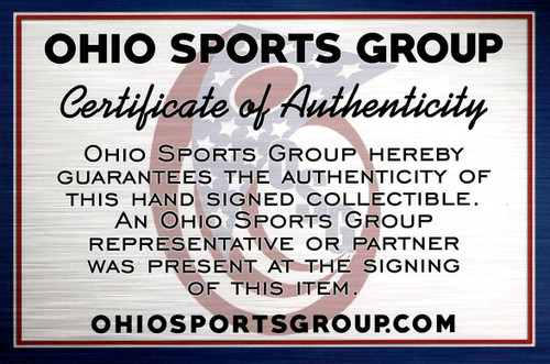 Nick Bosa Ohio State Buckeyes Autographed Black Replica Helmet - Certified Authentic