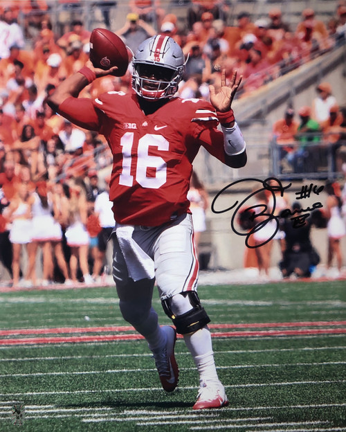 JT Barrett Ohio State Buckeyes 16-2 16x20 Autographed Photo - Certified Authentic