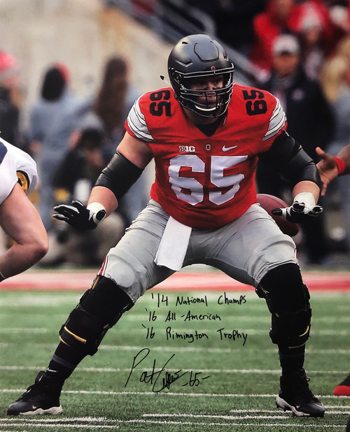 Pat Elflein Ohio State Buckeyes 16-1 16x20 Autographed Photo - Certified Authentic