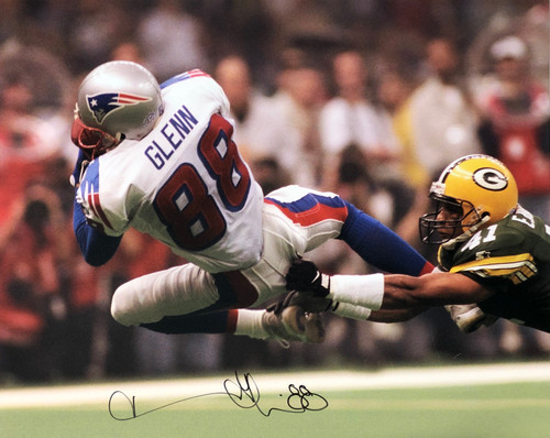 Terry Glenn New England Patriots 16-1 16x20 Autographed Photo - Certified Authentic