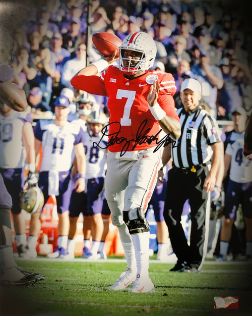 Dwayne Haskins Ohio State Buckeyes 16-5 16x20 Autographed Photo - Certified Authentic