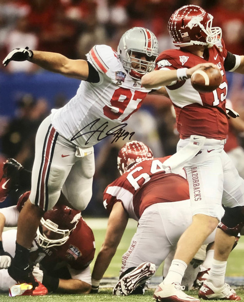 Cameron Heyward Ohio State Buckeyes 16-5 16x20 Autographed Photo - Certified Authentic