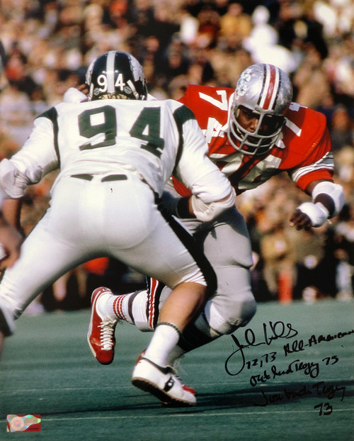 Jonathan Hicks Ohio State Buckeyes 16-5 16x20 Autographed Photo - Certified Authentic