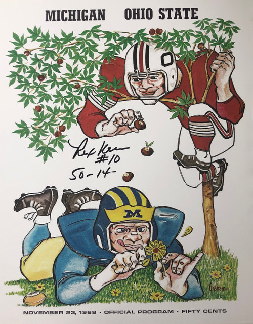 Rex Kern Ohio State Buckeyes 16-1 16x20 Autographed Program - Certified Authentic