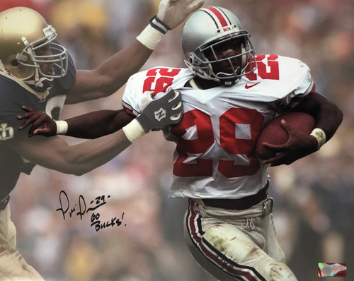 Pepe Pearson Ohio State Buckeyes 16-1 16x20 Autographed Photo - Certified Authentic