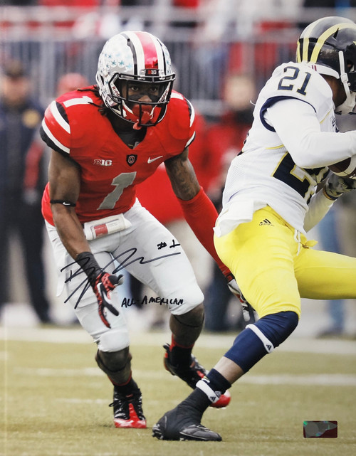 Bradley Roby Ohio State Buckeyes 16-4 16x20 Autographed Photo - Certified Authentic