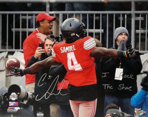 Curtis Samuel Ohio State Buckeyes 16-2 w/ Inscription 16x20 Autographed Photo - Certified Authentic