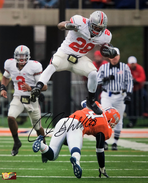 Chris 'Beanie' Wells Ohio State Buckeyes 16-1 16x20 Autographed Photo - Certified Authentic
