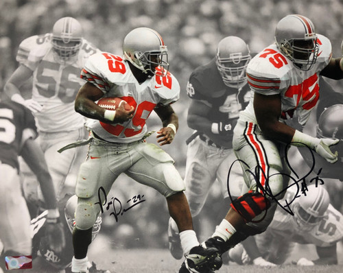 Orlando Pace & Pepe Pearson Ohio State Buckeyes 16-1 16x20 Autographed Photo - Certified Authentic