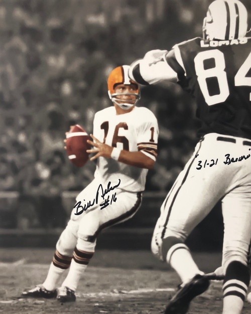Bill Nelson Cleveland Browns 16-1 16x20 Autographed Photo - Certified Authentic