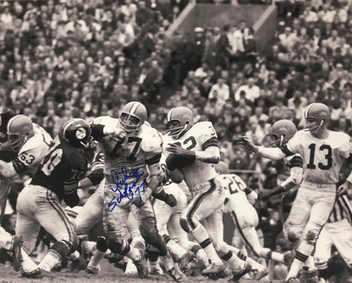 Dick Schafrath Cleveland Browns 16-1 16x20 Autographed Photo - Certified Authentic