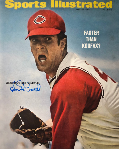 Sam McDowell Cleveland Indians 16-1 16x20 Autographed Photo - Certified Authentic
