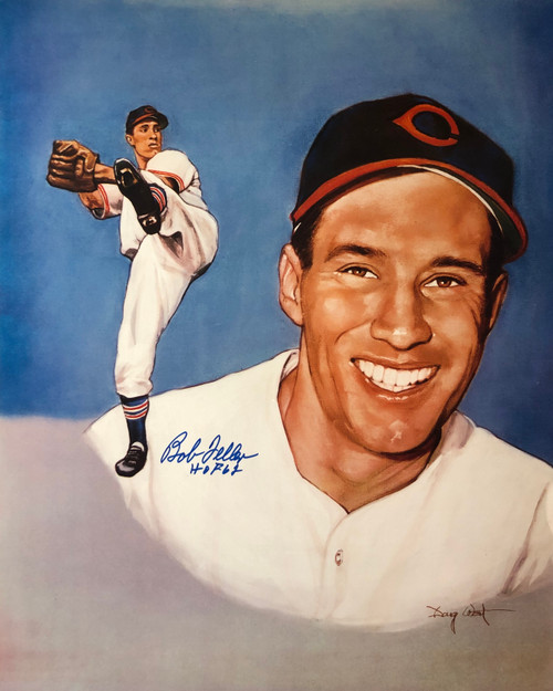 Bob Feller Cleveland Indians 16-2 16x20 Autographed Photo - Certified Authentic