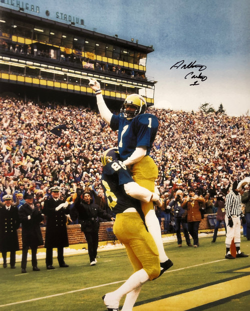 Anthony Carter Michigan Wolverines 16-2 16x20 Autographed Photo - Certified Authentic