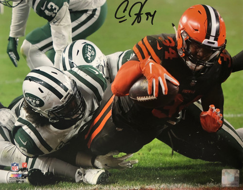 Carlos Hyde Cleveland Browns 11-1 11x14 Autographed Photo - Certified Authentic