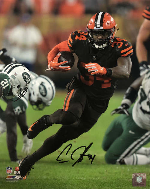 Carlos Hyde Cleveland Browns 11-2 11x14 Autographed Photo - Certified Authentic
