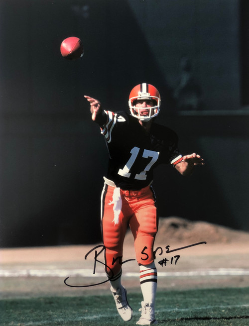 Brian Sipe Cleveland Browns 11-1 11x14 Autographed Photo - Certified Authentic