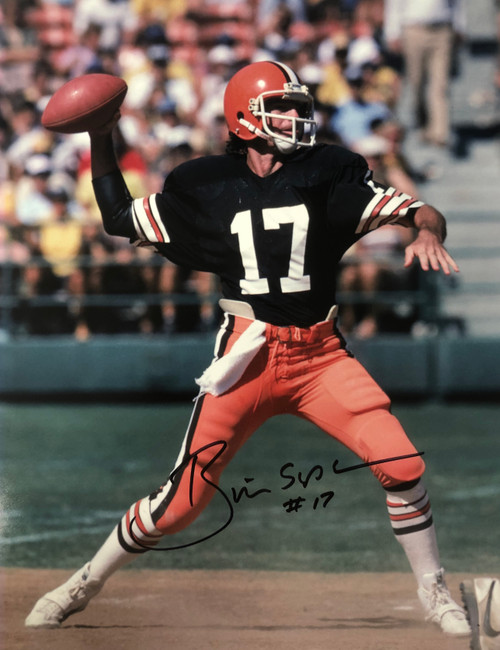 Brian Sipe Cleveland Browns 11-3 11x14 Autographed Photo - Certified Authentic