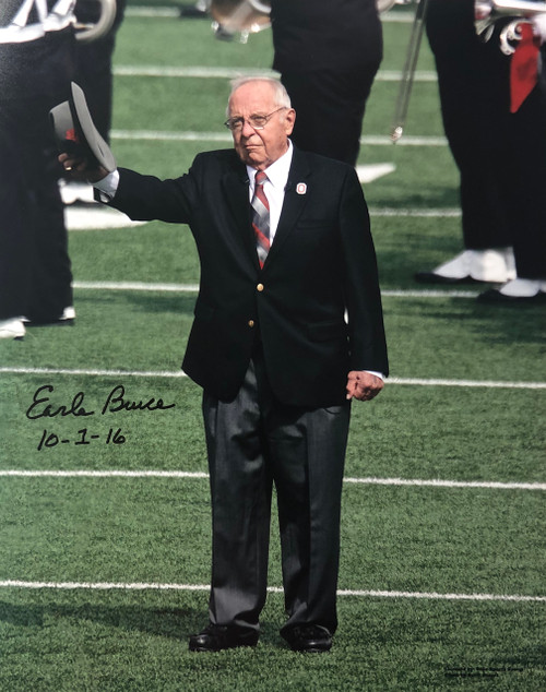 Earle Bruce Ohio State Buckeyes 11-1 11x14 Autographed Photo - Certified Authentic
