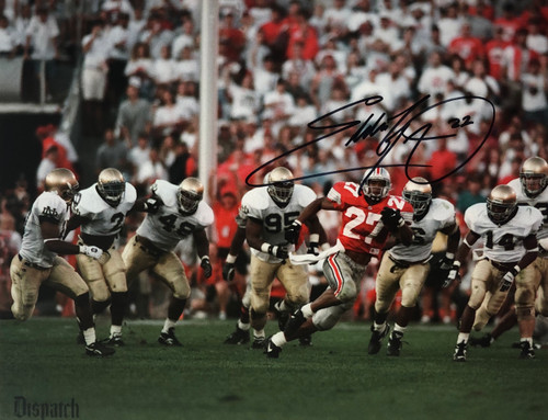 Eddie George Ohio State Buckeyes 11-2 11x14 Autographed Photo - Certified Authentic