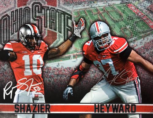 Ryan Shazier & Cameron Heyward Ohio State Buckeyes 11-1 11x14 Autographed Photo - Certified Authentic