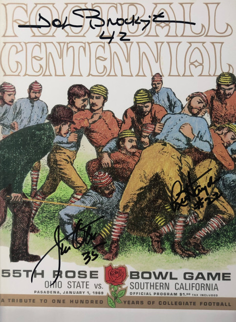 1969 Rose Bowl Program 11-1 11x14 Autographed Photo - Certified Authentic