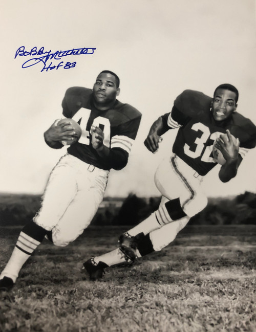 Bobby Mitchell Cleveland Browns 11-1 w/ Inscription 11x14 Autographed Photo - Certified Authentic
