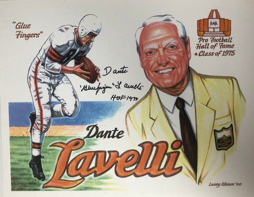 Dante Lavelli Cleveland Browns 11-1 11x14 Autographed Photo - Certified Authentic