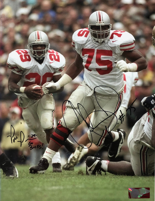 Pepe Pearson & Orlando Pace OSU 11-1 11x14 Autographed Photo - Certified Authentic