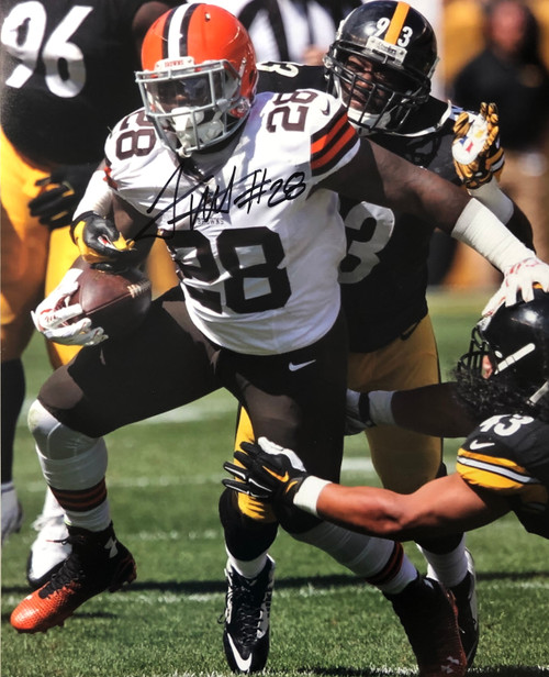 Terrance West Cleveland Browns 16-1 16x20 Autographed Photo - Certified Authentic