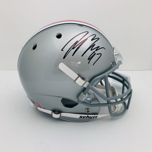 Joey Bosa Ohio State Buckeyes Autographed Schutt Replica Helmet - PSA Authentic