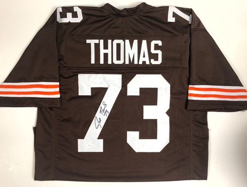 Joe Thomas Cleveland Browns Autographed Throwback Jersey - JSA Authentic
