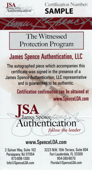 Joe Thomas Cleveland Browns Autographed Mini Helmet - JSA Authentic