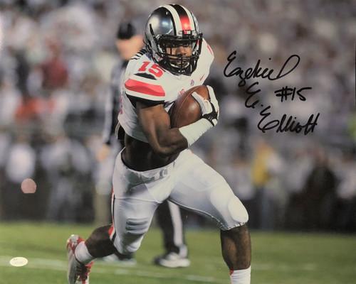 Ezekiel Elliott Ohio State Buckeyes 16-5 16x20 Autographed Photo - JSA Authentic