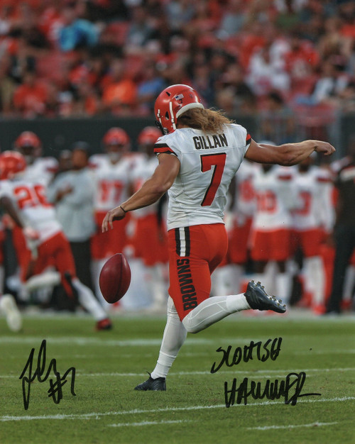 Jamie Gillan 'Scottish Hammer' Cleveland Browns 11-1 11x14 Autographed Photo - Certified Authentic