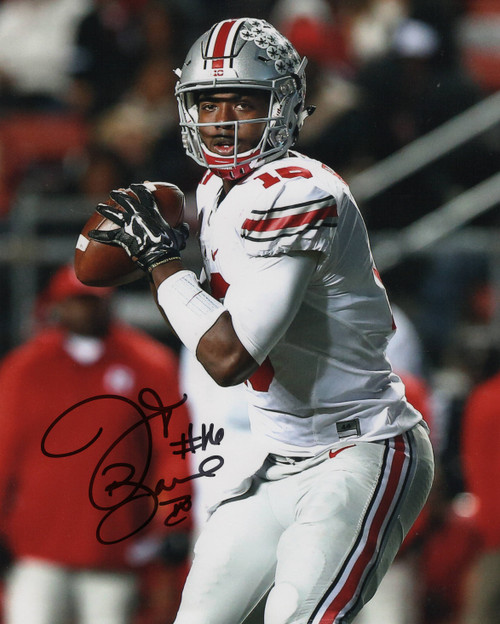 JT Barrett Ohio State Buckeyes 11-1 11x14 Autographed Photo - Barrett Hologram