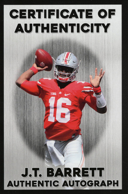 JT Barrett Ohio State Buckeyes 16-14 16x20 Autographed Photo - Barrett Hologram