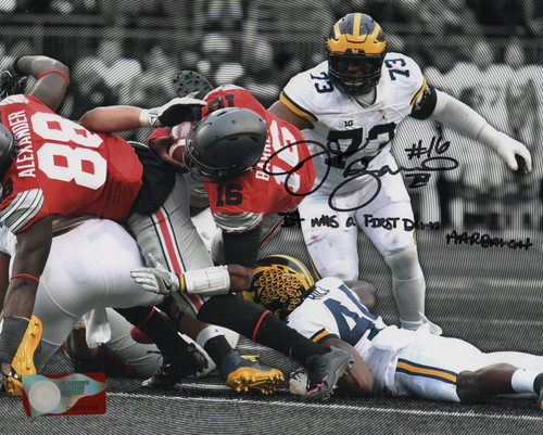 JT Barrett Ohio State Buckeyes 16-16 16x20 Autographed Photo - Barrett Hologram