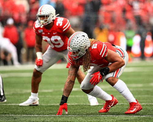 Chase Young Ohio State Buckeyes Licensed Unsigned Photo 12