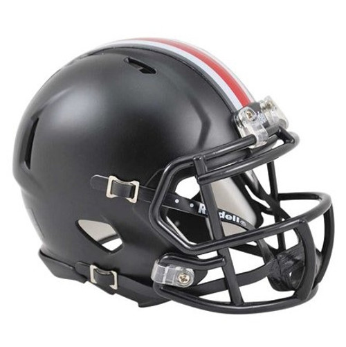 Ohio State Buckeyes Riddell Speed Black Mini Helmet