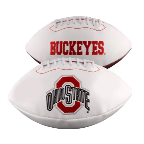 Ohio State Buckeyes White Panel Football