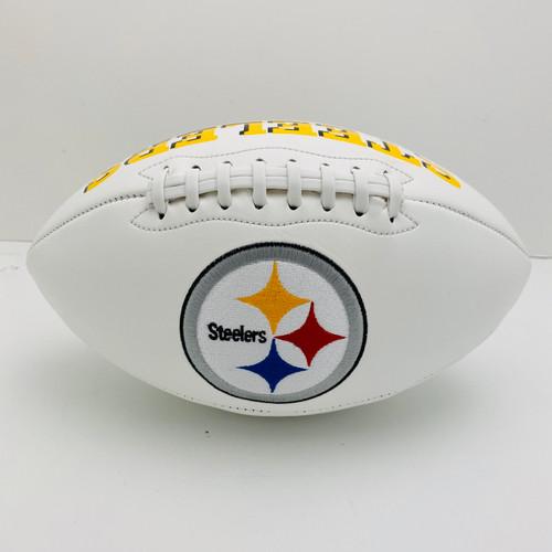 Pittsburgh Steelers White Panel Football